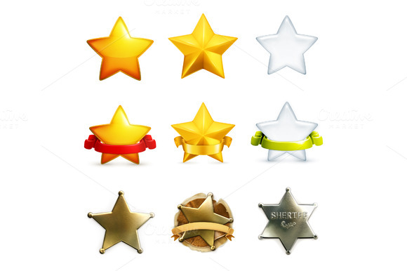 Stars Vector Icons