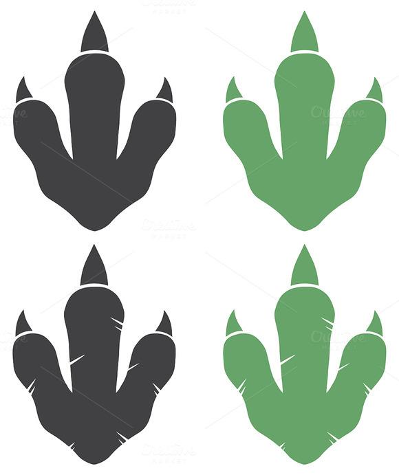 Dinosaur Footprint. Collection - 1 - Illustrations