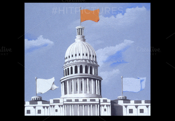 DC Capitol Handmade Illustration