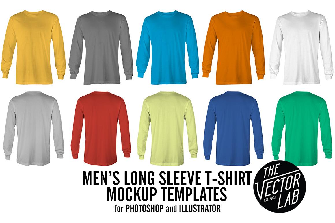 Long Sleeve T Shirt Mockup Templates Product Mockups On