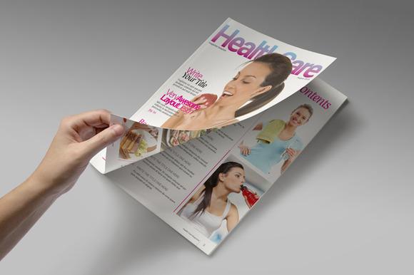 Health Care Magazine Template 画册ID模版下载