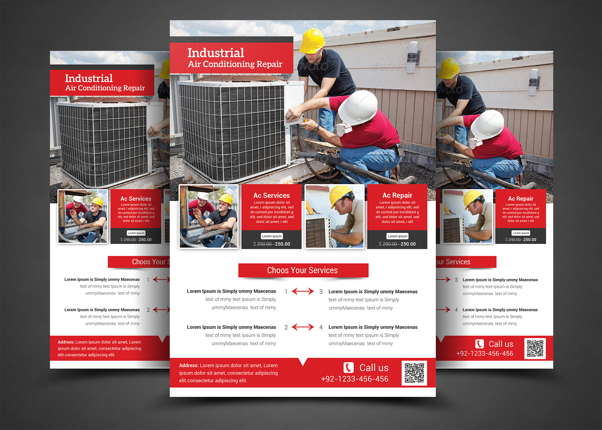 air conditioning repair flyer flyer templates on