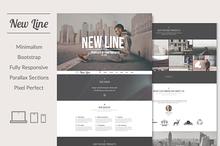 New Line | Minimalism HTML template