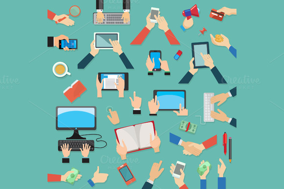 Hands And Computer Devices