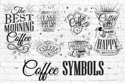 Coffee Symbols 咖啡 PSD设计-Graphicriver中文最全的素材分享平台