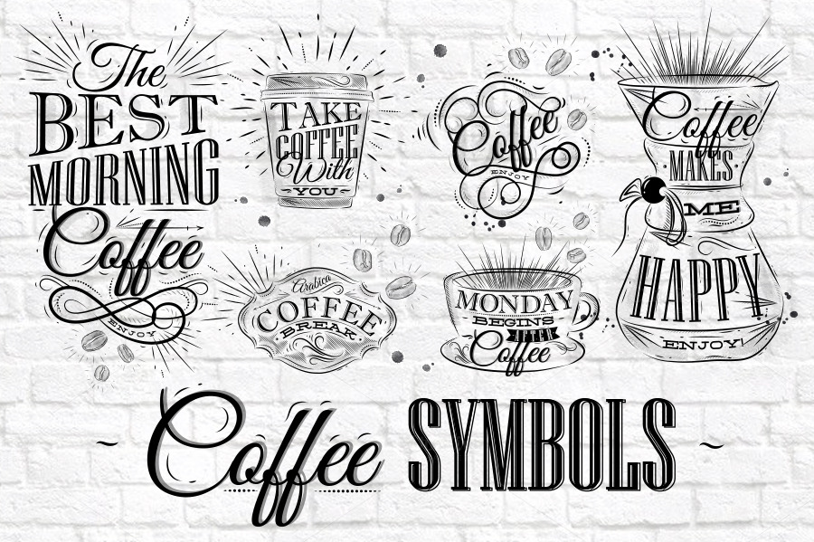 Coffee Symbols ~ Illustrations on Creative Market