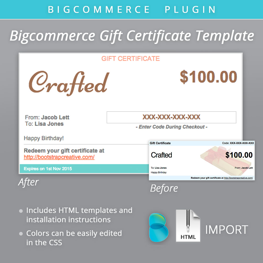 Bigcommerce Gift Certificate Email   Email Templates on Creative W0a1mEgd
