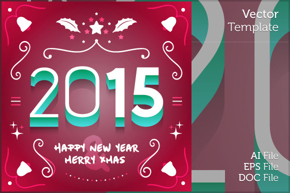 New Year And Christmas Vector Design