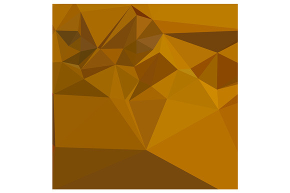Curry Yellow Abstract Low Polygon Ba