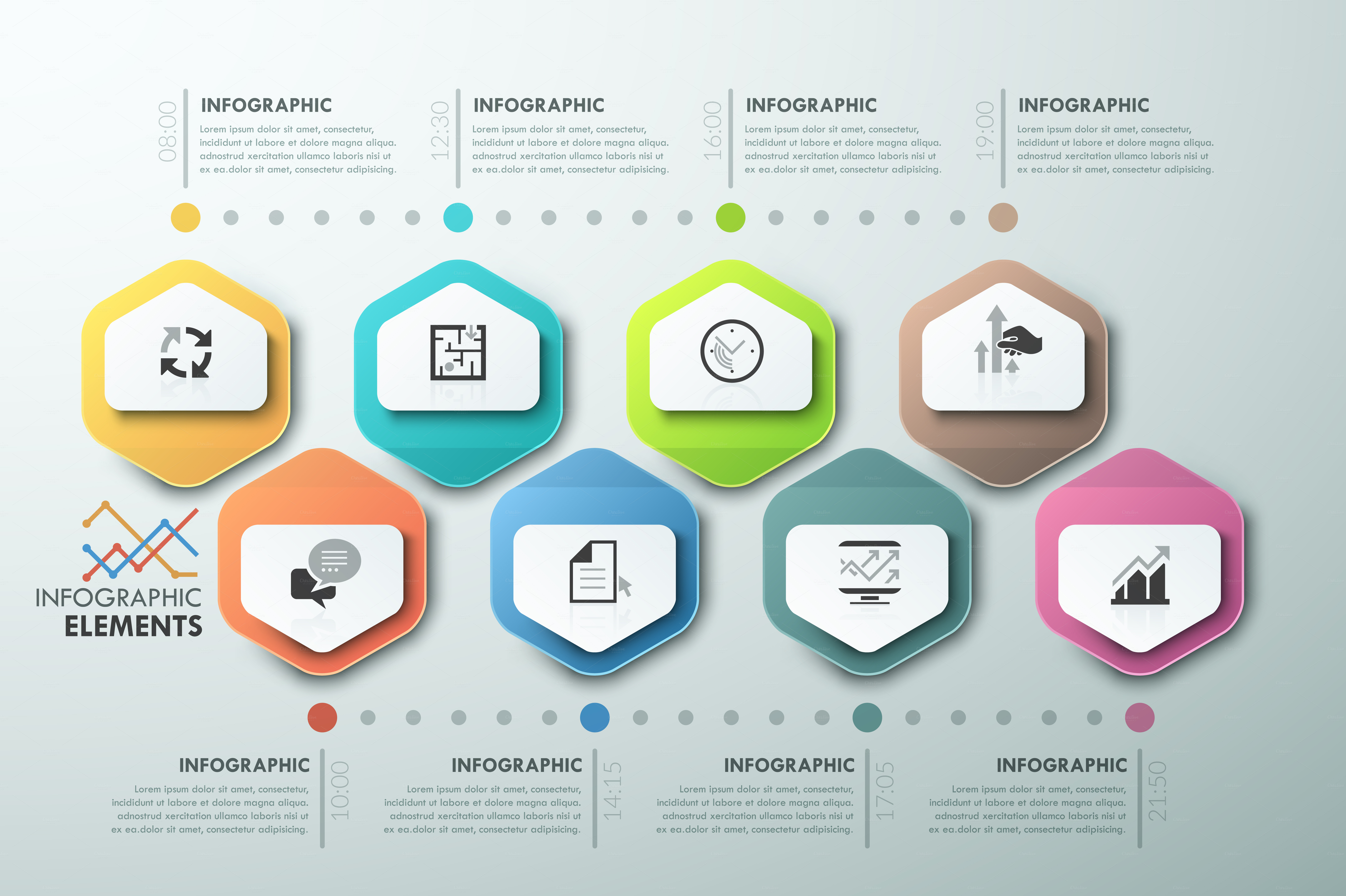 Modern Infographic Process Template ~ Presentation ...