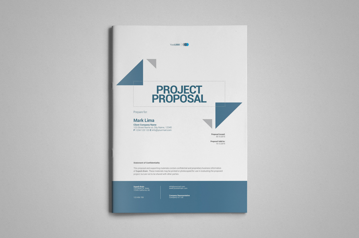 A4 Project Proposal Template ~ Brochure Templates on Creative Market