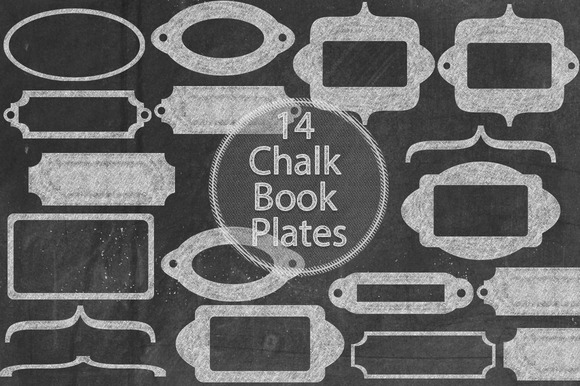 Chalk Book Plates