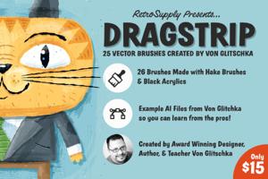 Dragstrip | Illustrator Brush Kit