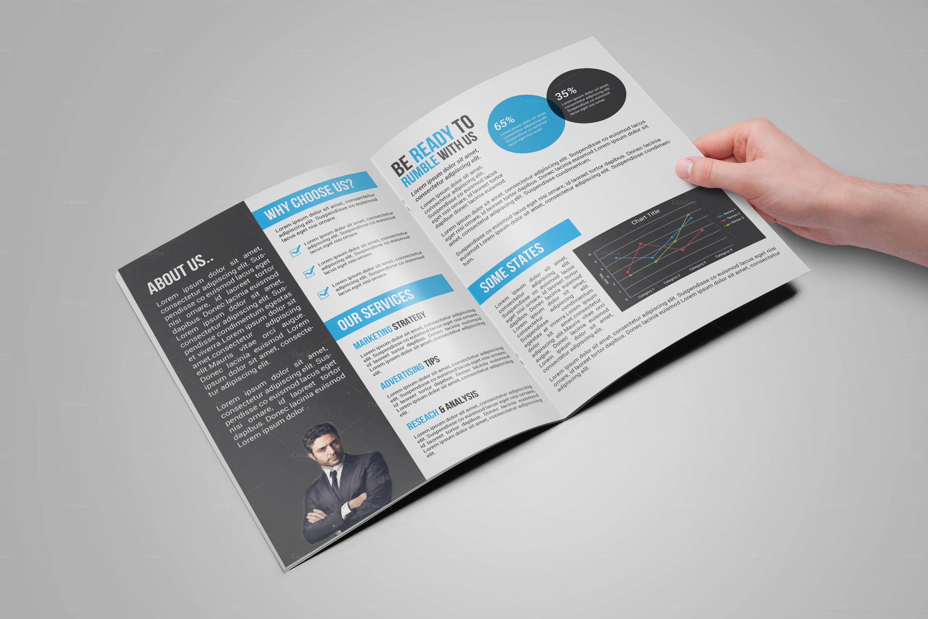 Bi fold creative brochure brochure templates on creative for Bi fold brochure template illustrator