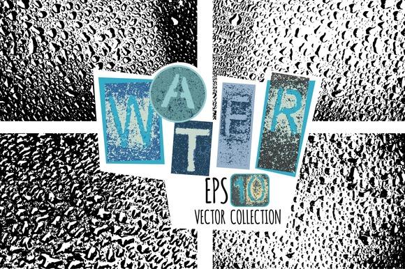 Water Drops Vector Texture