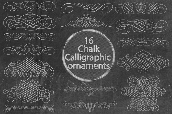 Chalk Calligraphic Ornaments