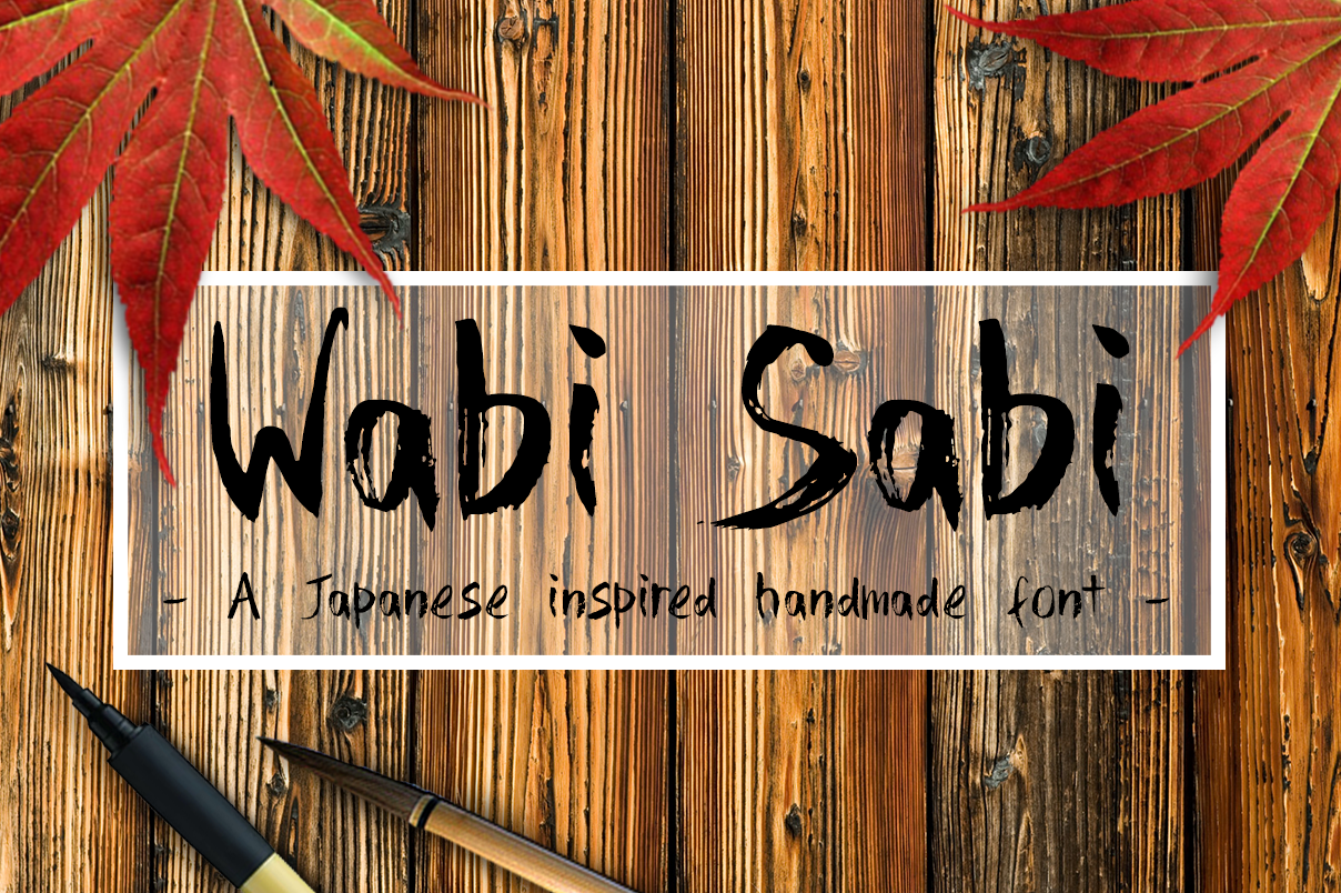 wabi sabi script fonts on creative market. Black Bedroom Furniture Sets. Home Design Ideas