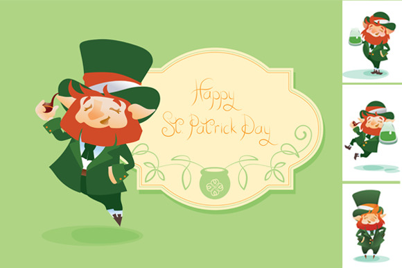 Greeting Postcard For St.Patrick Day - Illustrations