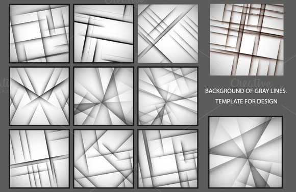Vector Set Shadow Line Elements
