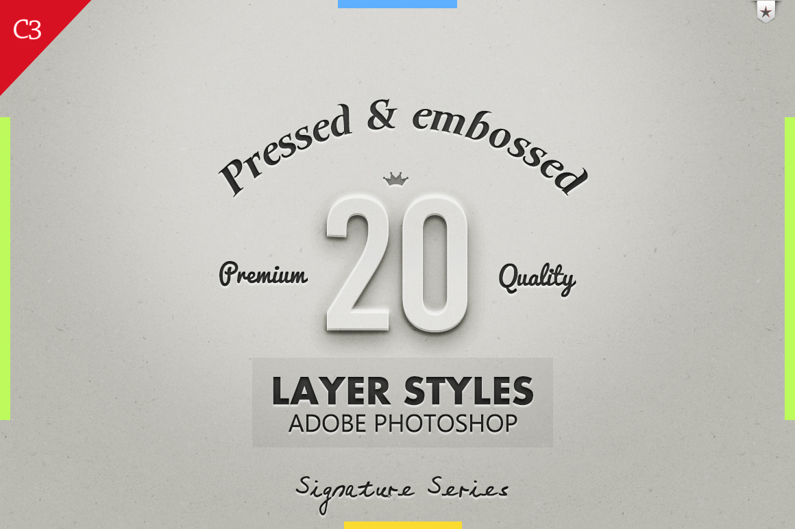 20 Best Pressed Amp Embossed Styles Layer Styles On