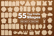 55 Tag Crafts Shapes-Graphicriver中文最全的素材分享平台