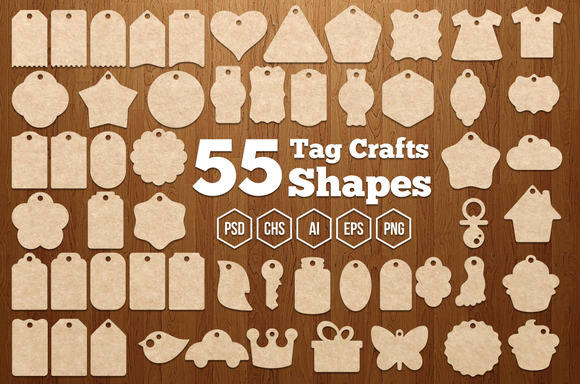 55 Tag Crafts Shapes