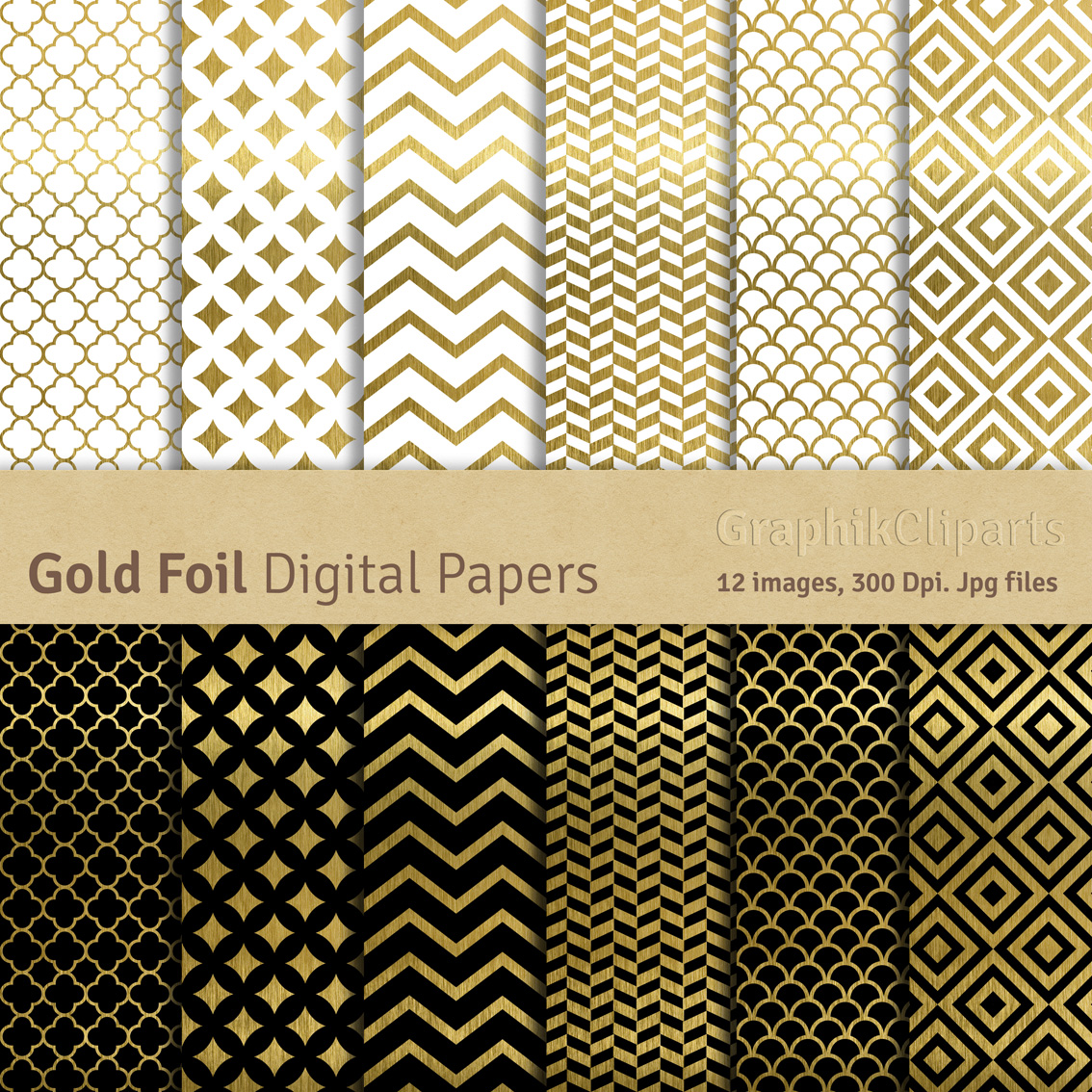 how to use gold foil on paper