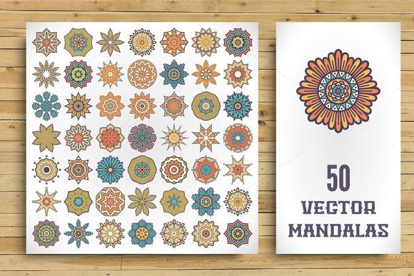 50 Vector Mandalas