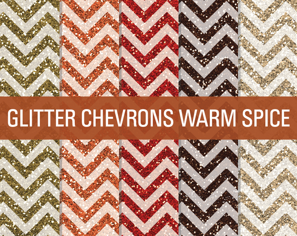Glitter Chevron Textures Warm Spice