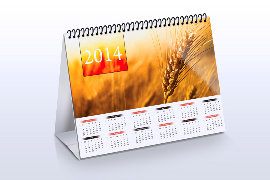 Art Calendar Business Magazine : Desk calendar mock up product mockups on creative market