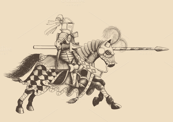 Horseback Knight Of The Tournament W