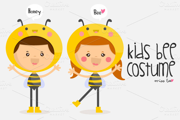 Kids Bee Costume