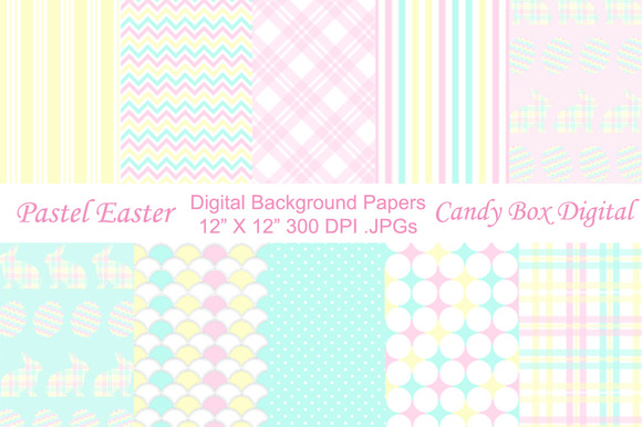 Pastel Easter Background Papers