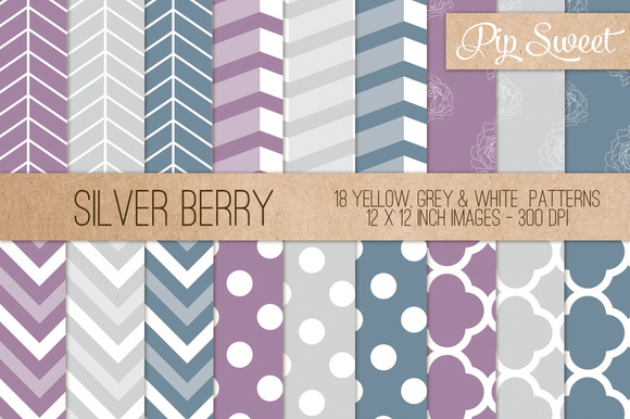 Silver Berry 18 Pattern Set