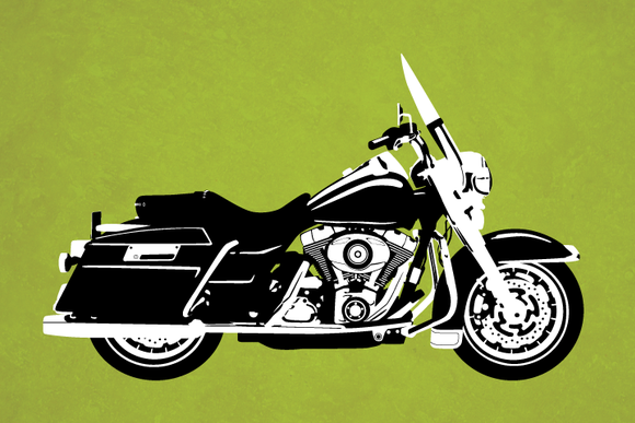 Touring Motorcycle Vector