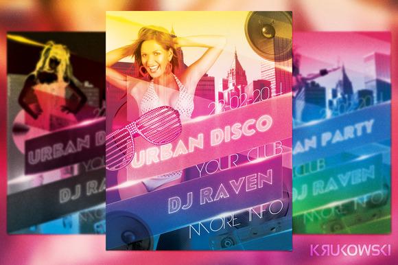 Urban Disco Party Flyer
