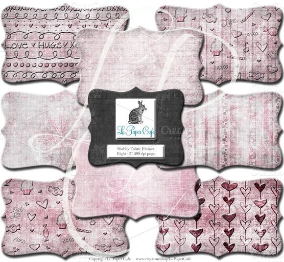 Pink Valentine Clipart Frame Set PNG