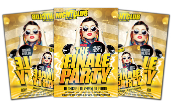 The Finale Party Flyer