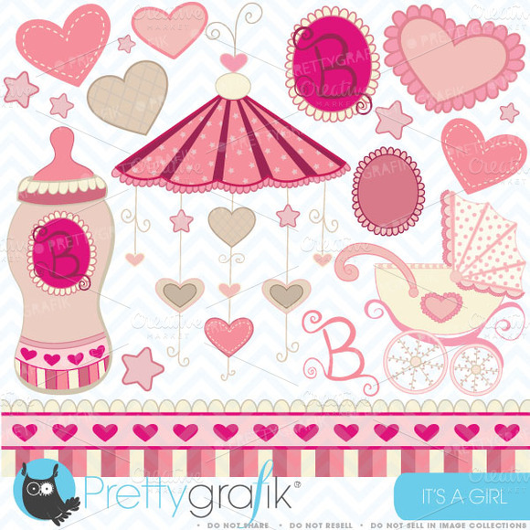 Baby Girl Clipart Commercial Use