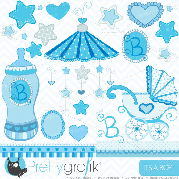 Baby Boy Clipart Commercial Use