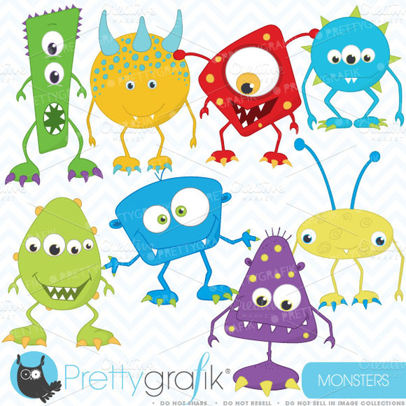 Monster Clipart Commercial Use