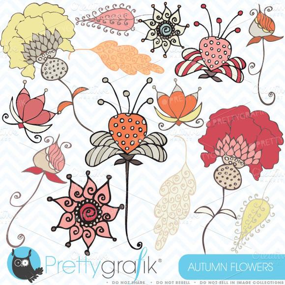 Autumn Flowers Clipart Commercial