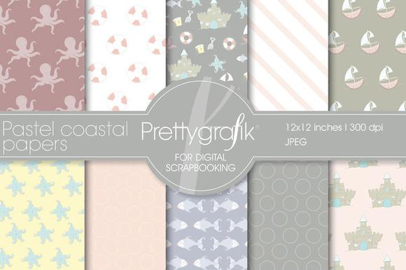 Pastel Coastal Digital Paper