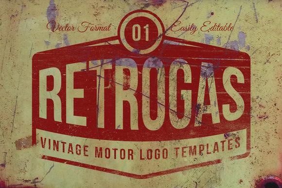 Retro Gas Vintage Logos Templates