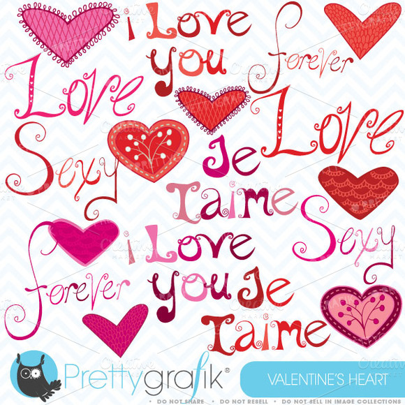 Love Digital Clipart Commercial Use