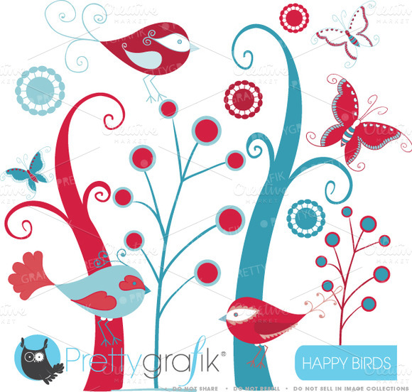 Birds And Trees Clipart Commercial
