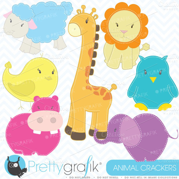 Zoo Animals Clipart Commercial Use