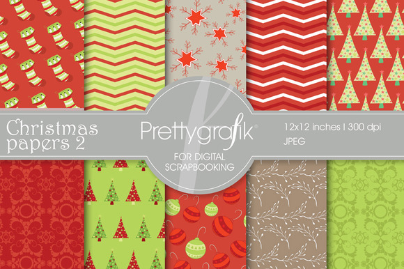 Christmas Digital Paper Commercial