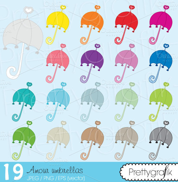 19 Umbrella Clipart Commercial Use