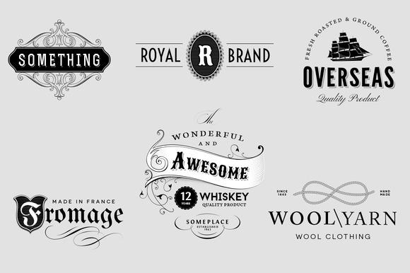Vintage Logo Insignia Set 3 Logo Templates On Creative